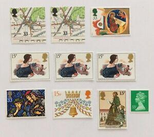 Briefmarken-Grossbritannien-10-Stueck-England-UK-Postfrisch