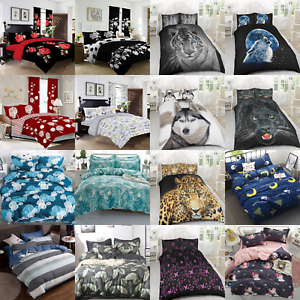 3D-Kids-Animal-Duvet-Sets-Quilt-Bedding-Set-Single-Double-King-Duvet-Covers