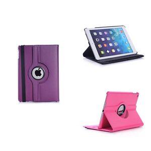 Funda-para-Apple-iPad-Mini-4-VARIOS-COLORES-Piel-Artificial-360-GRADOS-GIRATORIO