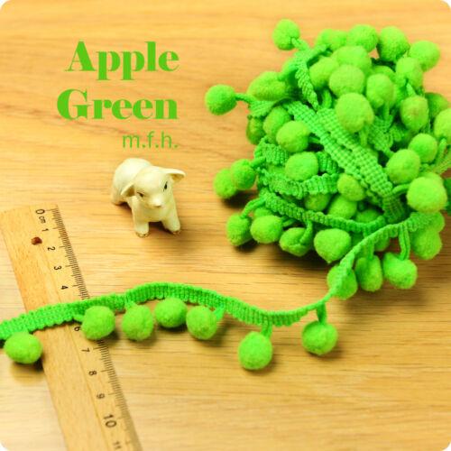 2m de pâques printemps festival bobble trim pom pom frange tresse pastel multicolore