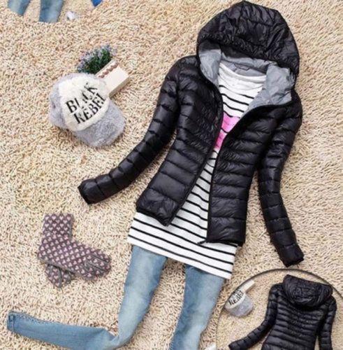 con Giacca a cappuccio collo cappuccio sottile da con cotone in donna invernale Pnxvqfrw8P