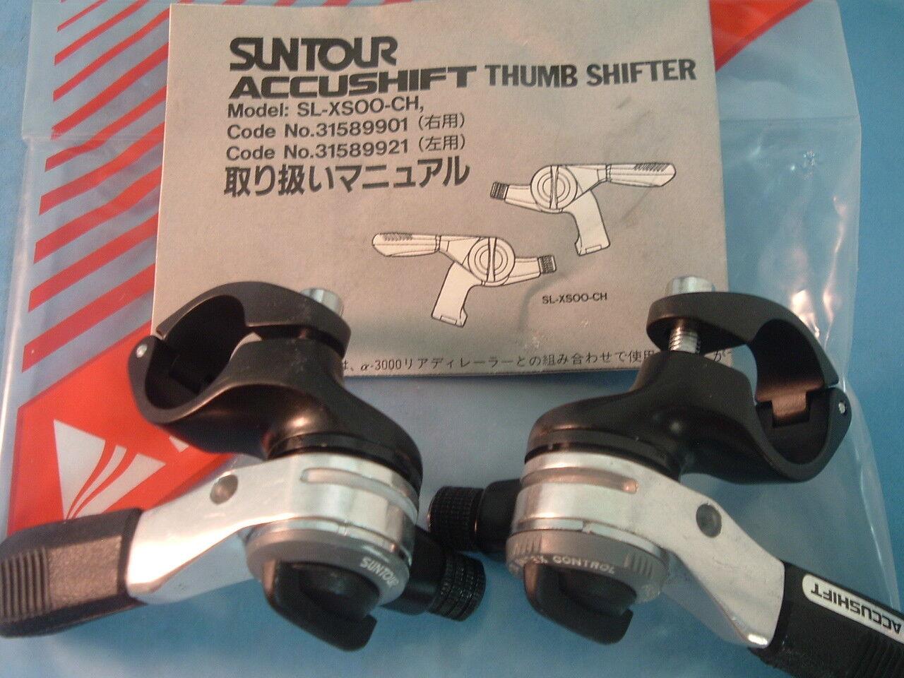 SunTour XC MTB 3x6-Spd Index   Friction Thumb Shifters NEW   NOS Vintage-NIB