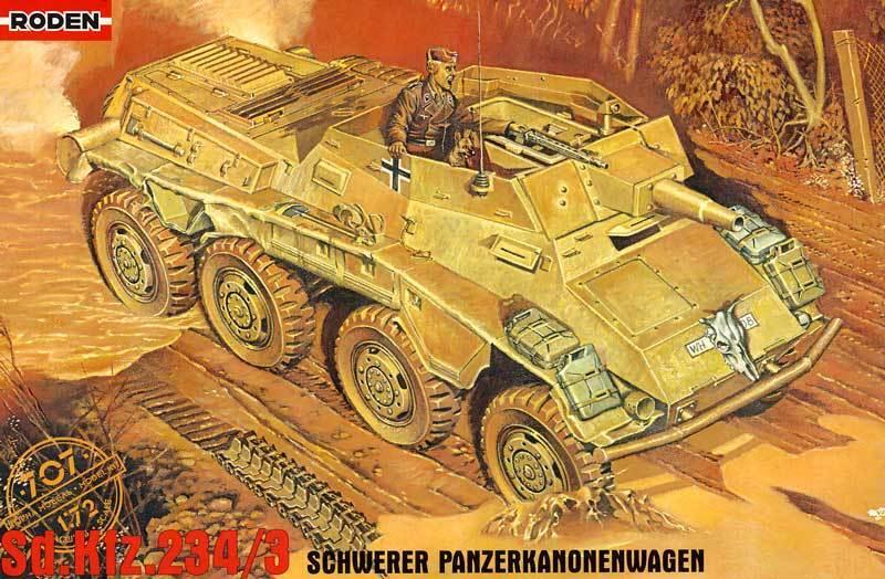 Roden Sd.Kfz.234 3 8-Rad Panzerkanonenwagen 1 72 Modèle-kit