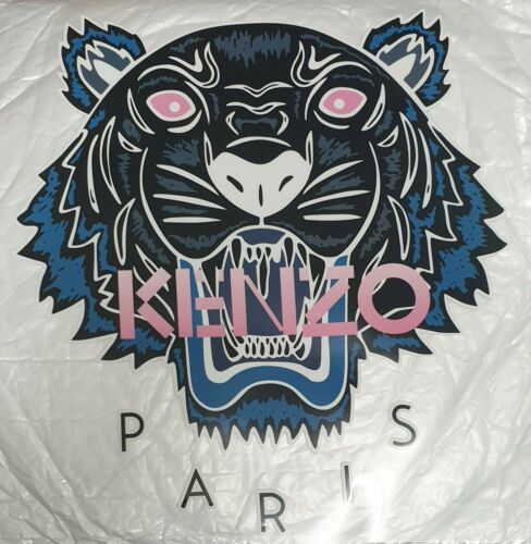 DESIGNER INSPIRED IRON ON x2 TRANSFER LARGE BLUE TIGER PATCH CLOTHES FASHION BAG