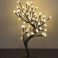 Led Lights Cherry Blossom Tree Desk Decor Centerpiece Gift Floral Office