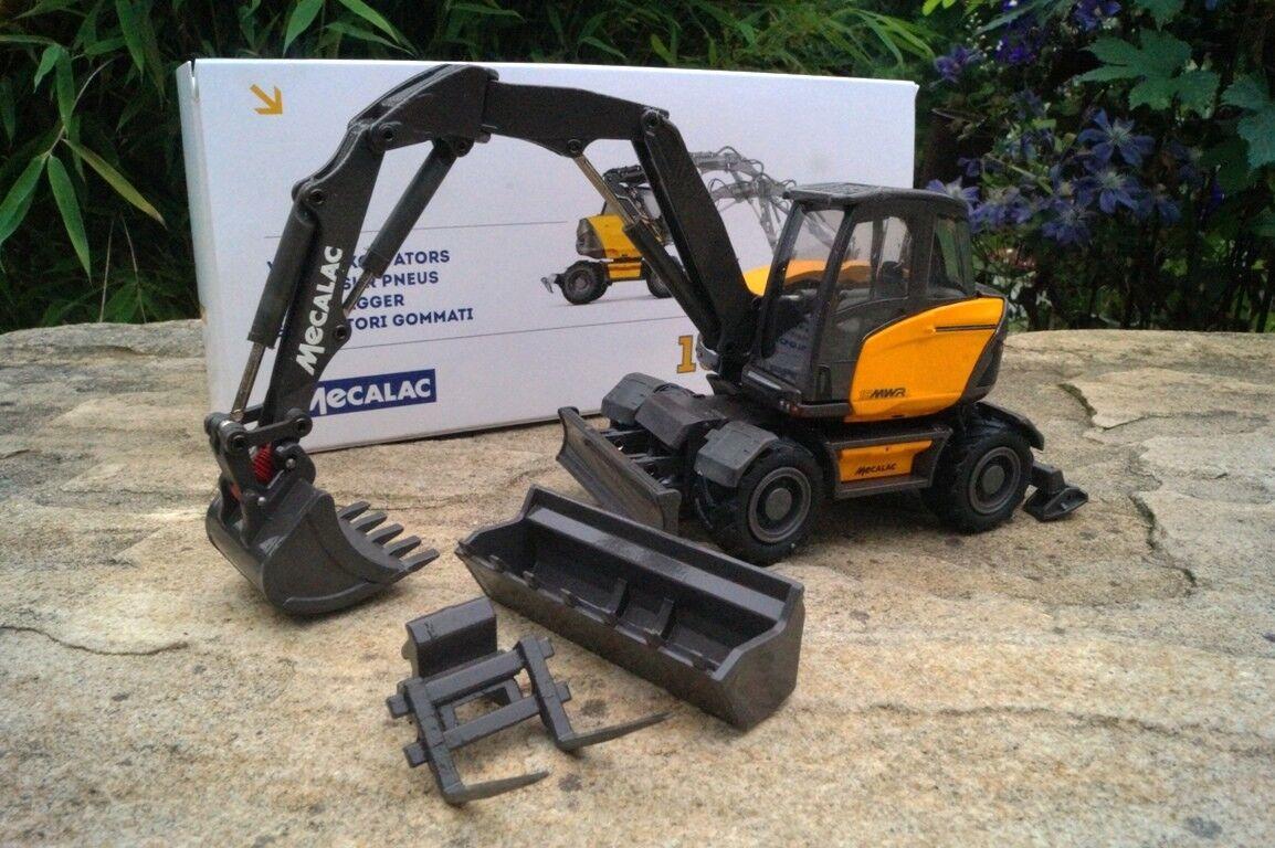 Conrad mecalac 15 MWR mobile Excavateurs avec culture Pièces Nouveau neuf dans sa boîte 2208 neuf dans sa boîte
