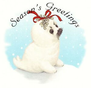 Christmas-Season-039-s-Greetings-Seal-Select-A-Size-Ceramic-Waterslide-Decals-Xx