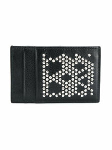 Alexander-McQueen-Studded-Skull-Leather-Card-Holder-NWT-100-AUTHENTIC