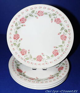Image is loading BHS-Tableware-4-Pottery-Side-Plates-Hannah-Design- & BHS Tableware * 4 Pottery Side Plates * Hannah Design * 18cm ...