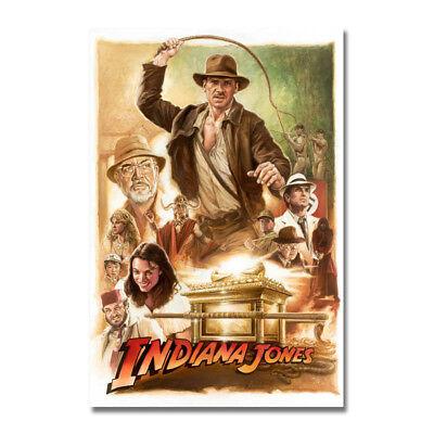 Indiana Jones Hot Movie Art Silk Poster Canvas Print 24x36 inch Berroom Decor