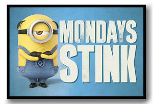 Despicable-Me-3-Mondays-Stink-Framed-Cork-Pin-Notice-Board-With-Pins