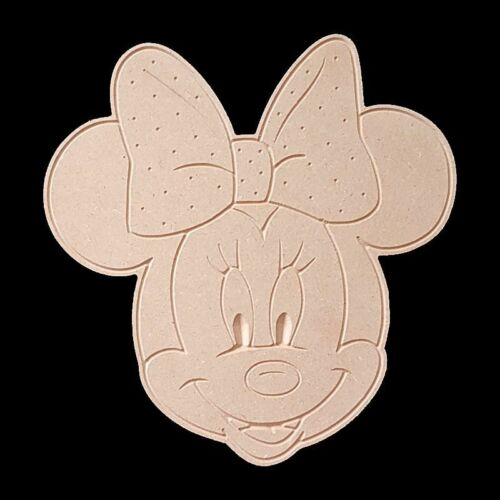 MINNIE MOUSE HEAD DIY PAINTABLE MDF CRAFT CARTOON CHARACTERS