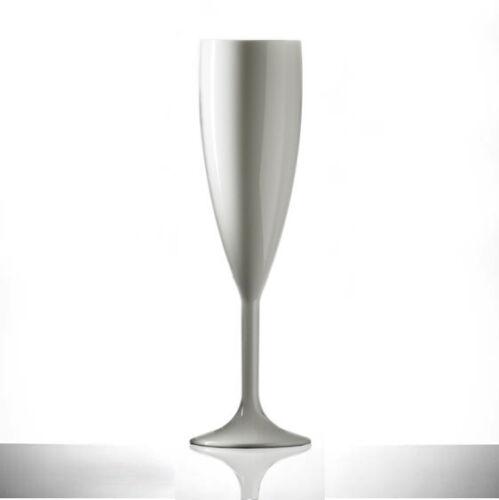 Blanco Policarbonato Champagne Flutes Elite Premium 200ml Blanco-Paquete de 12