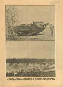 WWI-Char-Tank-Flood-Inondation-Saint-Quentin-Aisne-France-War-1917-ILLUSTRATION