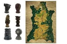Game of Thrones Carved Map Marker Set with Map of Westeros Dark Horse