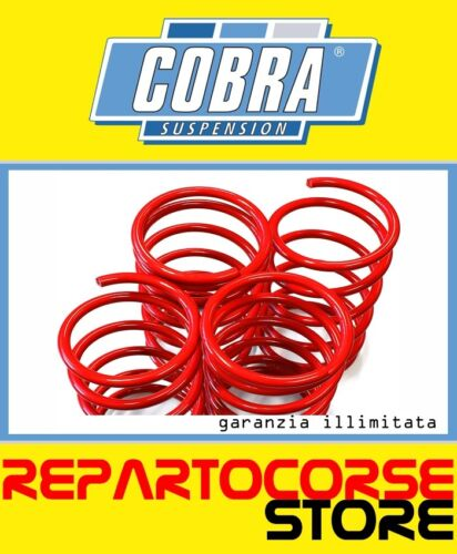 KIT 4 MOLLE ASSETTO RIBASSATE COBRA 30mm MINI COOPER S R53 1.6 OMOLOGATE TÜV
