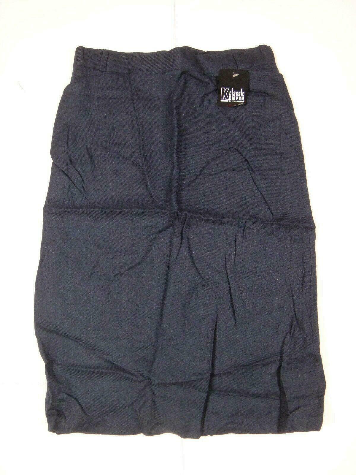 12594 Womens Skirt Classical Kemper Model 4695 Size 40 Dark Blue