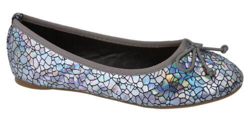 Girls Spot On Pewter Slip On Shoes UK Sizes 10-2 H2339