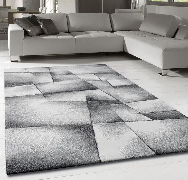 Living Room Rug Grey Silver Abstract Soft Bedroom Bedroom Bedroom Lounge Carpet Mat Small Large | De Haute Qualité  2fe729