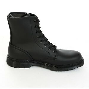 Boots-amp-Braces-easy-8-Loch-Vegetarian-Black-Stiefel-Rangers-Schwarz