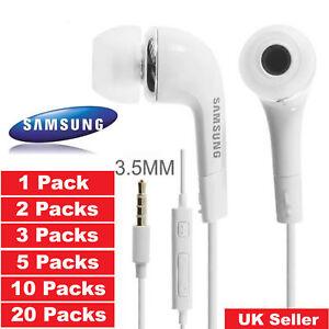 5x-10x-20x-Samsung-Galaxy-S4-S6-S8-Edge-Note3-4-5-Headphones-Earphones-pack-lot