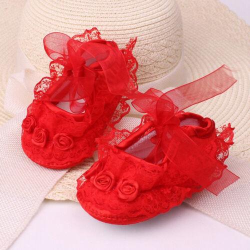 Prewalker Cute Princess Crib Infant Baby 3~12m Shoes Girls Kids Sole Newborn