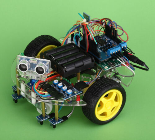 Arduino Inventor Kit eBOT Z Smart Car Robot Chassis Bundle DIY New, from USA
