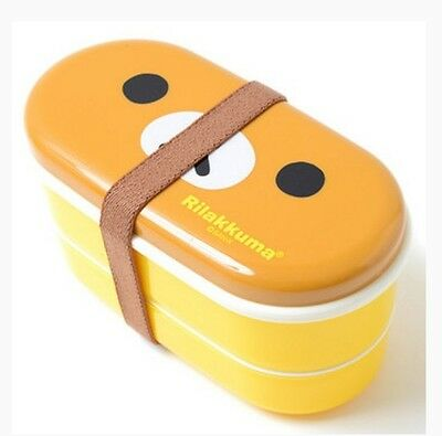 San-X Rilakkuma Bento Box Two-Tier Lunch Case Box with Chopsticks