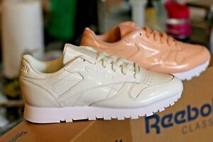 Women-Shoes-Reebok-Classic-Leather-PATENT-Running-Shoes-or-Casual-Sports-Wear