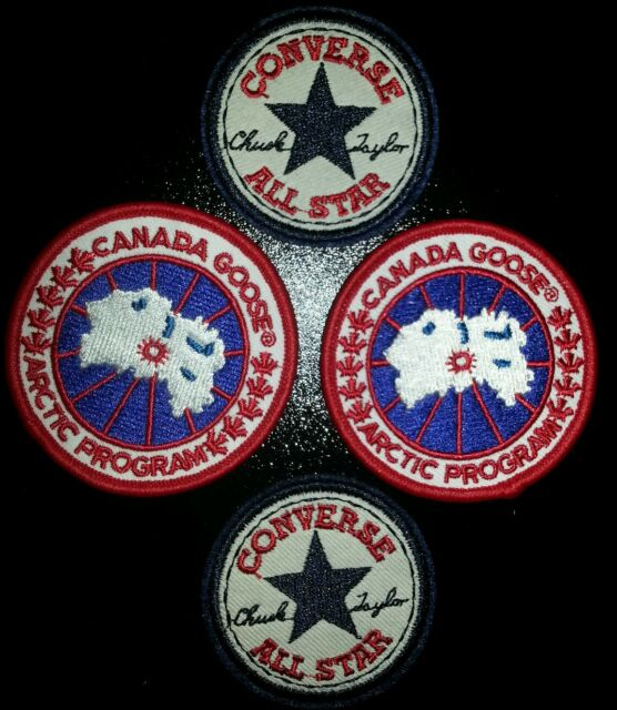 Joblot Iron On Patches 4pc Converse All Star And Canada Goose Ebay