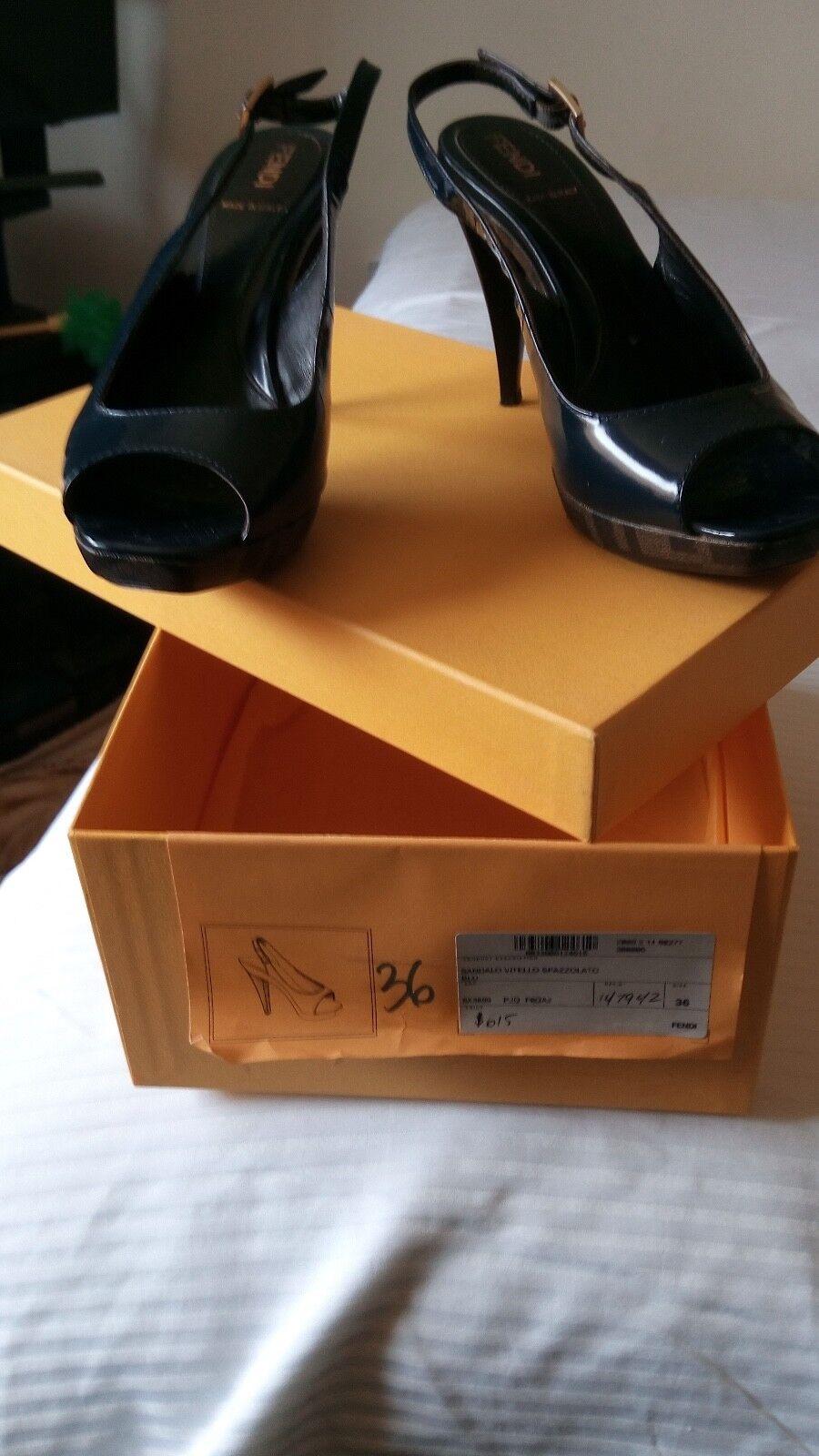 Fendi women shoe size 6 F logo
