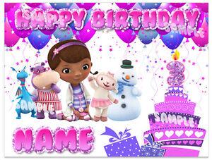 Enjoyable Doc Mcstuffins Birthday Edible Image Cake Topper Personalized Personalised Birthday Cards Beptaeletsinfo