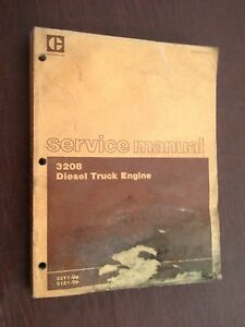 CATERPILLAR 3208 DIESEL TRUCK ENGINE SERVICE MANUAL 32Y 51Z SEMI
