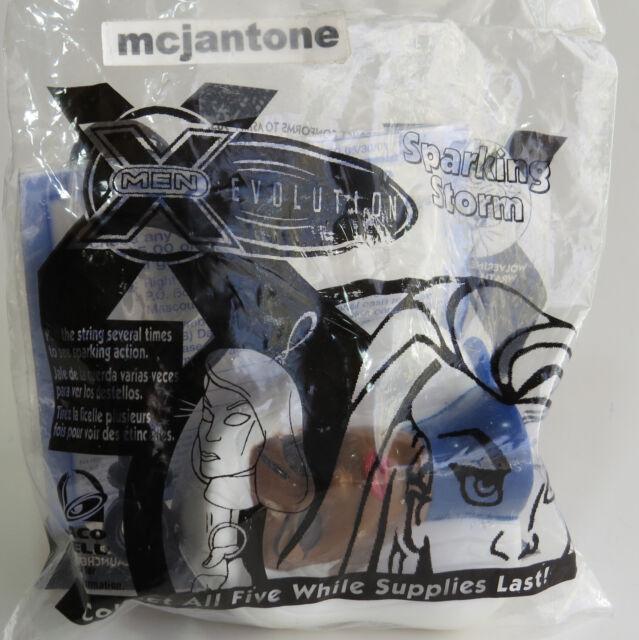 MIP Taco Bell 2001 X-Men Evolution SPARKING STORM Key Clip On MARVEL Backpack