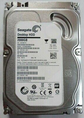 "Seagate Constellation ES.3 SED ST2000NM0043 2TB 7.2K 3.5/"" SAS 6.0GB//s 128MB HDD"