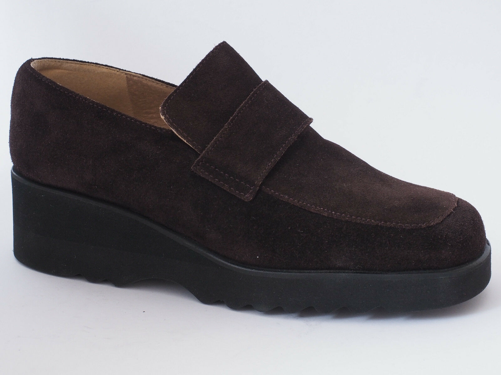 Diane zapatos zapatos zapatos señora mocasines cuero 36 1 2 zapato bajo marrón NUEVO 3f5743
