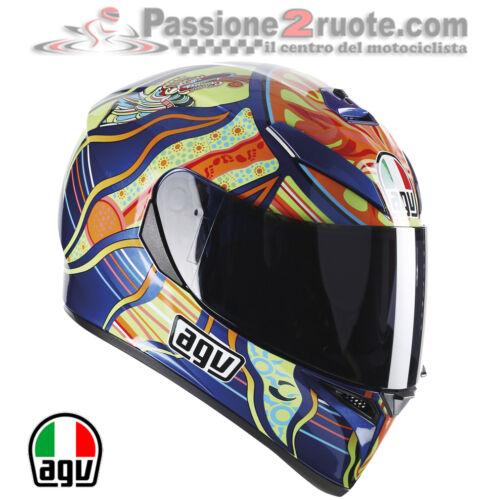 Casco agv k3 sv Valentino Rossi Five Continen Yamaha Xtz Super Tenere Bulldog R3