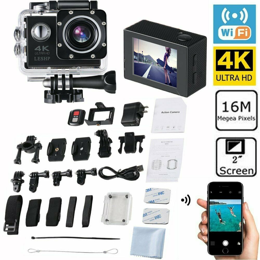Full-HD Action Camera Sport Camcorder Waterproof DVR 1080P/4K WiFi Remote Go TO action camcorder camera dvr Featured remote sport waterproof wifi