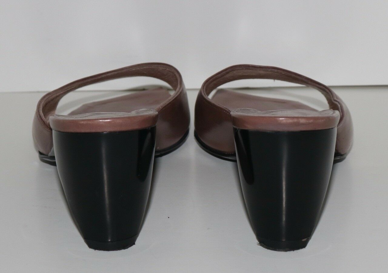 Robert Clergerie Paris for Barneys Barneys Barneys brown leather open toe sandal heels 6.5 B e55ea1