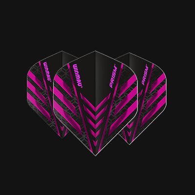 Winmau Prism Zeta Transparent Dart Flights Pear Shape 1.0 Tough 1-10 Sets