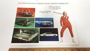 1967-DODGE-Monaco-Dart-Original-Color-Sales-Catalog-Very-Good-Condition-US