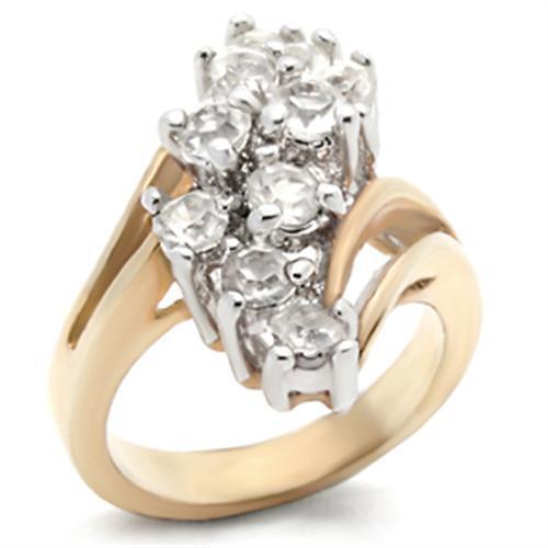 Oro 18k PE 2.0 ct diamante de imitación CLUSTER ANILLO TAMAÑO 5-10 que usted elija