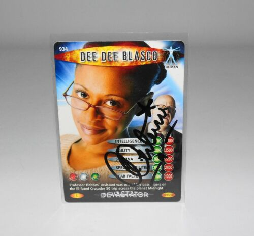 Doctor Who Signed Battles In Time Card Ayesha Antoine Autograph Dee Dee Blasco