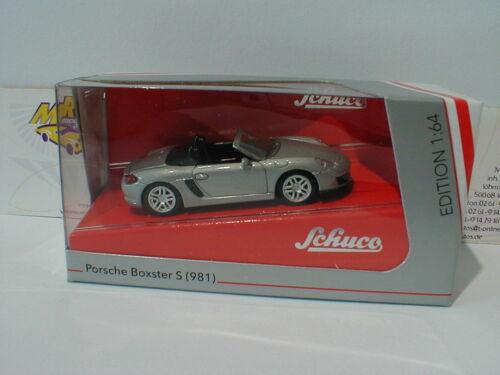 Schuco 20111-porsche boxster s 918 981 plata metálica 1:64 precio especial!!!