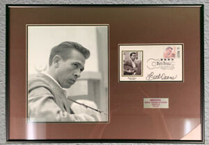 Buck Owens Framed Photo with commemorative stamp