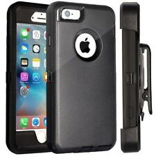 For Apple iPhone 7 Defender Case Cover with Holster [ Belt Clip Fits Otter box ]