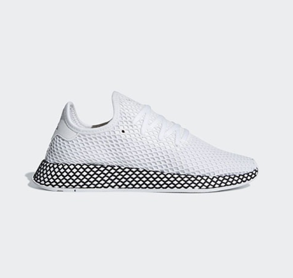 Deerupt Runner B41767 - White  Black, Running shoes Athletic Sneakers
