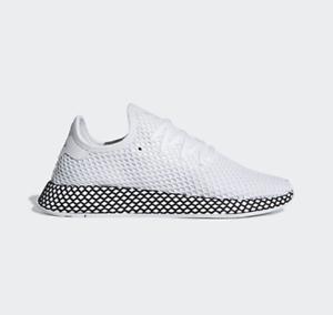 9169e098f Image is loading Adidas-Deerupt-Runner-B41767-White-Black-Running-Shoes-