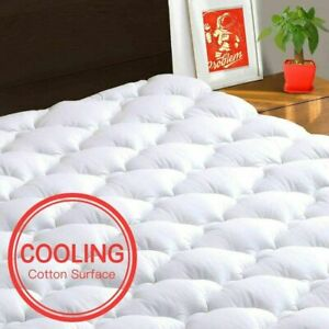 Pillow Top Mattress Pad King Size Bed Topper Cover Soft Hypoallergenic Cooling