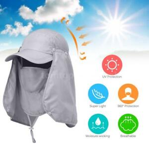 67b7ded458d Outdoor Fish Sun Cap Sport Hiking Visor Hat UV Protection Face Neck ...